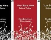 Business Card Premade design - you choose color combination of template - modern foliage design