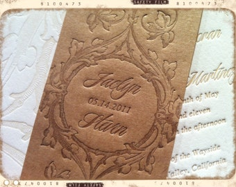 SAMPLE - Wedding Invitations - LETTERPRESS - Loving Vine by Invited Ink