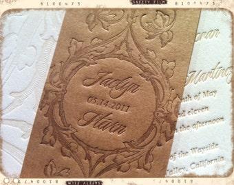 SAMPLE - Wedding Invitations - LETTERPRESS - Loving Vine by Invited Ink