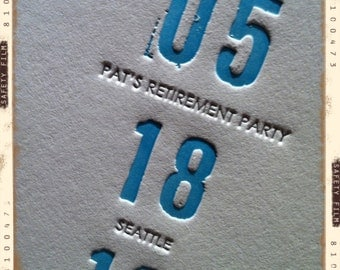 Letterpress Save the Date - LETTERPRESS - Please Save the Date - 100 sets by Invited Ink