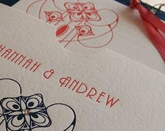 Letterpress Wedding Invitations - LETTERPRESS - Love Nouveau - 100 sets by Invited Ink