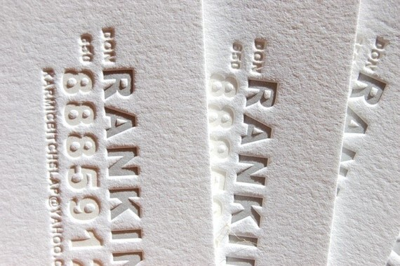 Letterpress Business Cards - Calling Cards - LETTERPRESS - Got my number Business Cards - 2 color- 200 cards by Invited Ink