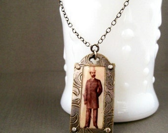 Steampunk Victorian Dandy Necklace - Shrinky Dinks Jewelry