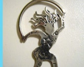 Wild Woman Sterling Silver Charm/Pendant