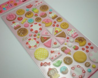 Cute Puffy Japanese Sticker - Snacks for Sweet Tooth (1120) by Mind Wave Inc - great 3D crafting ideas!