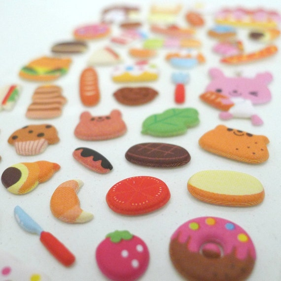 Cute Puffy Japanese Sticker - Little Deli Chef (1197) - Great for 3D crafting as well