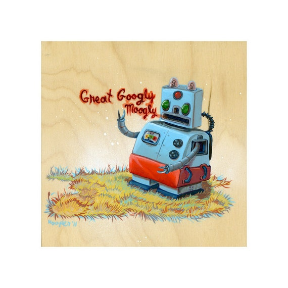 Great Googly Moogly Robot  - Limited Edition Art Print - Mr. Hooper Art