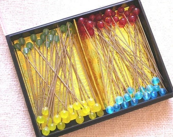 Glass Head Sewing Pins