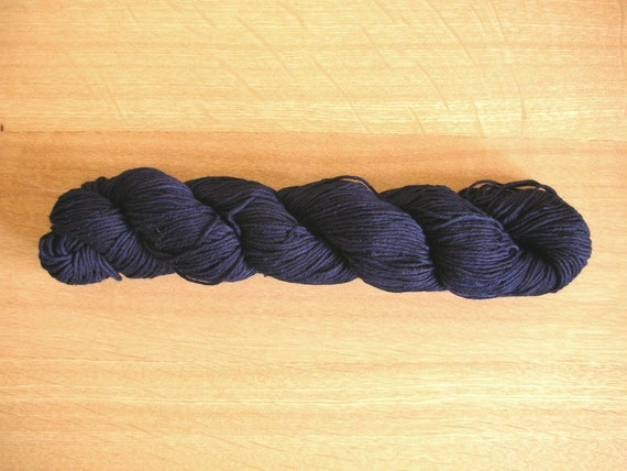 Indigo dyed Sashiko thread  Dark Blue color 110 meters (120yards) skein