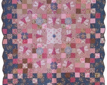 "PDF Pattern - ""Dance of the Dragonflies"" quilt"