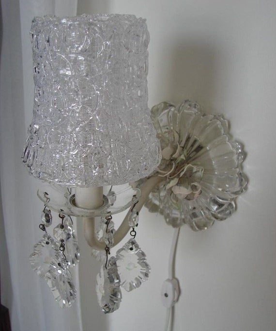 Shabby Cottage Wall Sconce Pin-up Lamp by VintageReflections