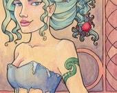 Tattooed Mermaid Series, Piece 8 Signed Medium Print (Item 03-202-BB)