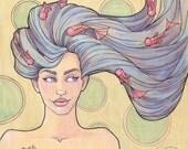 Tattooed Mermaid Series, Piece 7 Signed Medium Print (03-204-BB)
