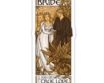 individual Die Cut Bride sticker (Item 01-005)