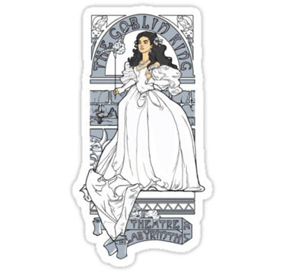 Individual Die Cut Theatre de la Labyrinth sticker (Item 01-047)