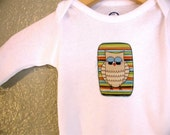 SALE ----  Little Retro Owl Long Sleeve Onesie ----SALE