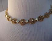 Liqudating - Shop Closing Retro Signed Avon Gold Choker Bib Necklace 14-16 inch Adjustable