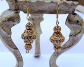 Liqudating - Shop Closing SALE Moroccan Bohemian Gypsy Style Earrings, Gold/Silver Mix Gold Plated Surgical Steel Ear Wires