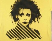Edward Scissorhands Spray Painted Shirt