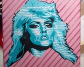 Blondie Painting Deborah Harry on Canvas