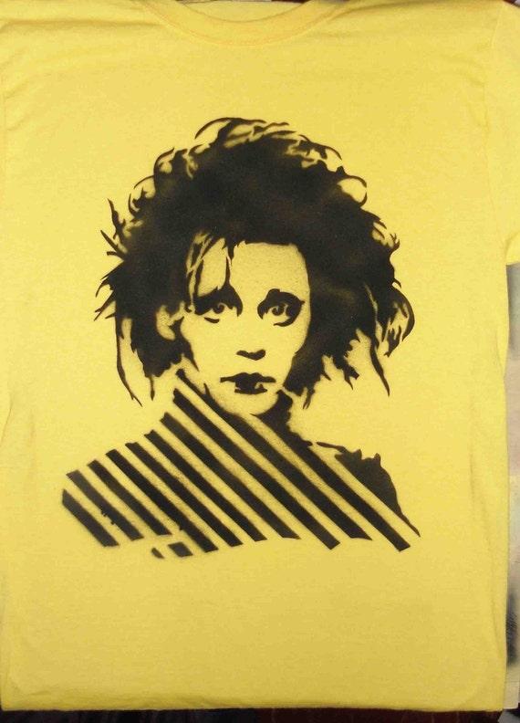 Edward Scissorhands Spray Painted Shirt