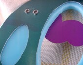 Cloudy Skies, purple, sky blue, and green necklace
