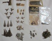 Huge Lot of Antique Brass Jewelry Stampings, Connectors and Filligrees