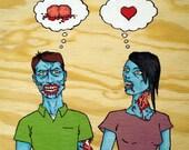 Zombie Love (Brains) Print