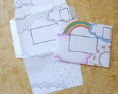 Letter Set Two-in-One Stationery : Rainbow
