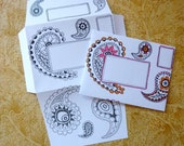 Letter Set Two-in-One Stationery : Paisley
