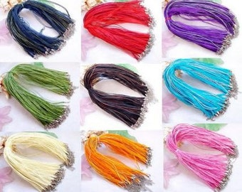 18 Inch Ribbon Necklace Cord for Pendants  with 2 Inch Extender Chain Many Colors