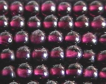 4mm Garnet Round Beads (90 - 100 per strand)