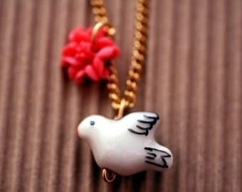 Summer Dove Necklace -- on sale