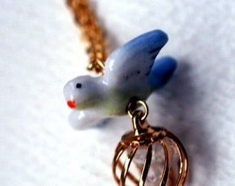 Wings of the Dove Necklace -- Sale