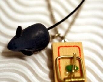 Mousetrap Necklace -- sale