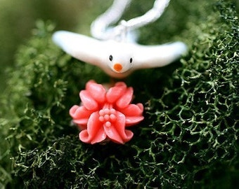 Blossoming Bird Necklace -- on sale