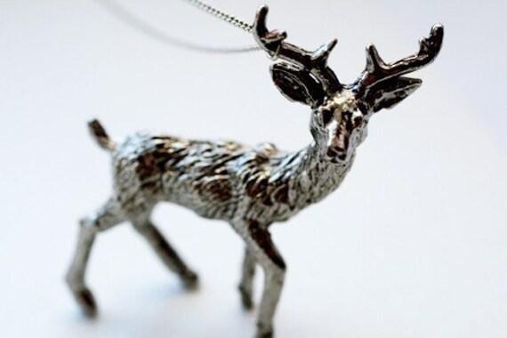 Darling Deer Necklace -- on sale