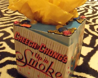 Cheech and Chong up in smoke TISSUE BOX HOLDER Cool Stuff Made From Records