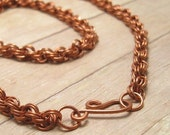 RESERVED FOR ELSIE Copper Chain Mail Necklace, Chainmail Necklace, Copper Chainmaille Jewelry, Women's Chain Maille Jewelry