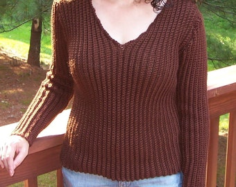 Vertical Rib Crochet Sweater Pattern