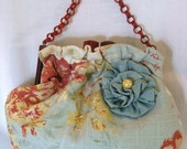 The New Della Bag in Robin's Egg Blue Linen by fancibags on Etsy