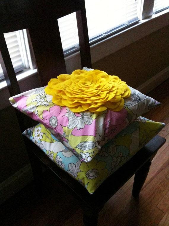 Amy Butler Alexandery Henry Estee Felt Blossom Pillow Cover