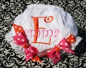 FREE SHIPPING Personalized Custom Diaper Cover Bloomers with bow