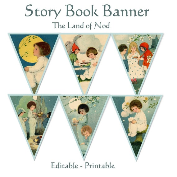 Story Book Pennant Banner The Land of Nod