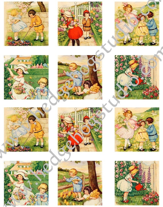 Story Book Spring Time 2.25 inch Tags
