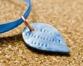 some unfathomable shore -- porcelain poem pendant