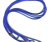 Bright Blue Cords with Clasp 5 Pack