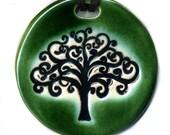 Swirly Tree in Green