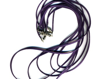 Purple Cords with Clasp 5 Pack