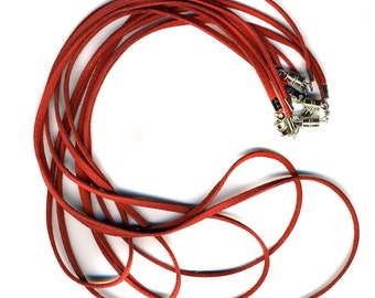 Red Cords with Clasp 5 Pack